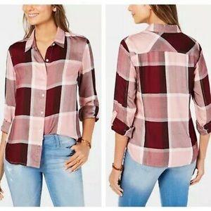 Tommy Hilfiger Pink Windowpane Heritage Shirt L